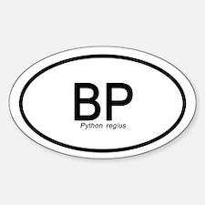 Python Regius Sticker (oval)