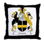 Gwyn Family Crest Throw Pillow