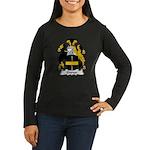 Gwyn Family Crest Women's Long Sleeve Dark T-Shirt