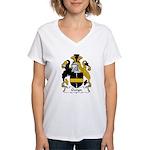 Gwyn Family Crest Women's V-Neck T-Shirt