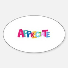 Colorful APPRECIATE Positive Text Decal