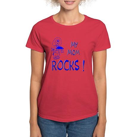 My Mom Rocks ! Women's Dark T-Shirt