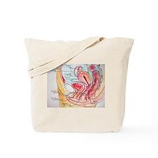 Female Genital Anatomy Diagram Tote Bag