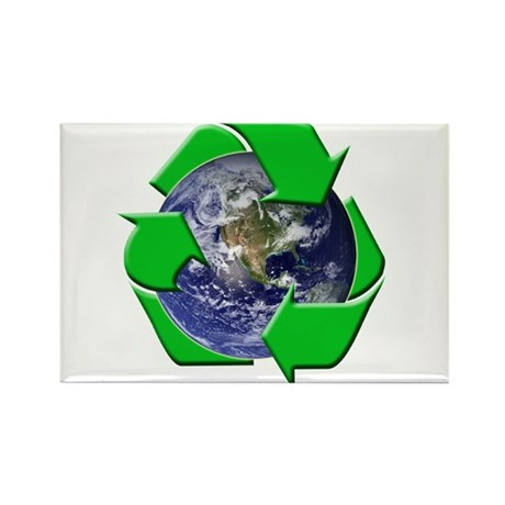 Earth Day Recycle Rectangle Magnet (100 pack)