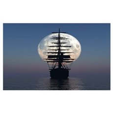 Ship Sailing In The Night Poster