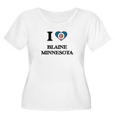 I love Blaine Minnesota Plus Size T-Shirt