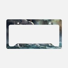 Battle Between Ships  License Plate Holder