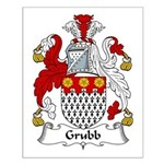 Grubb Family Crest Small Poster