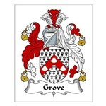 Grove Family Crest Small Poster