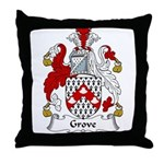 Grove Family Crest Throw Pillow