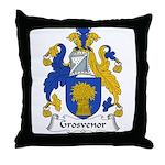 Grosvenor Family Crest Throw Pillow