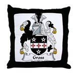 Gross Family Crest Throw Pillow