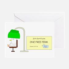 Hair Perm Greeting Cards