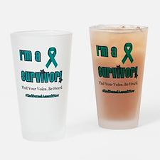 I'm a Survivor... Drinking Glass