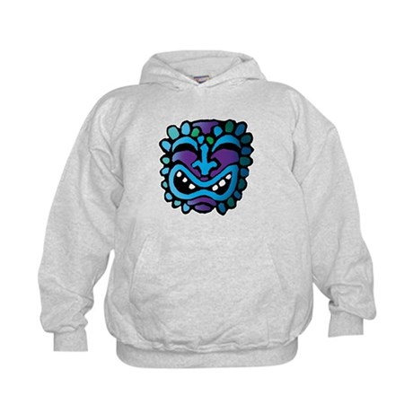 Purple and Blue Tiki Kids Hoodie