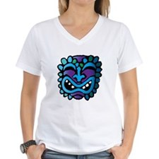 Purple and Blue Tiki Shirt