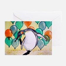 Disco Penguin Greeting Cards