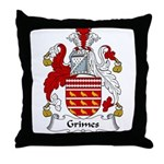 Grimes Family Crest Throw Pillow