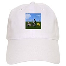 Golf Cart on Grass Crossing Warning Baseball Cap