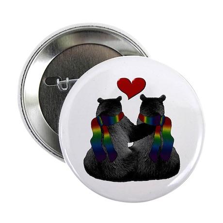 "Love (Heart) Gay Bears 2.25"" Button (10 pack)"