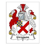 Gregson Family Crest Small Poster