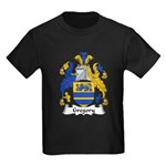 Gregory Family Crest Kids Dark T-Shirt