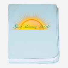 Good Morning, Asshole baby blanket