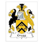 Gregg Family Crest Small Poster