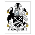 Greenwood Family Crest Small Poster