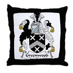 Greenwood Family Crest Throw Pillow