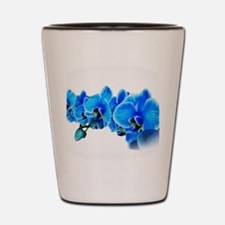 Ice blue orchids Shot Glass