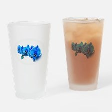 Ice blue orchids Drinking Glass