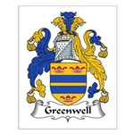 Greenwell Family Crest Small Poster
