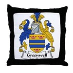Greenwell Family Crest Throw Pillow