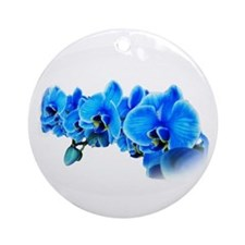 Ice blue orchids Ornament (Round)