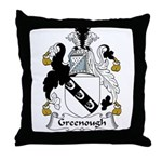 Greenough Family Crest Throw Pillow