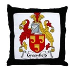 Greenfield Family Crest Throw Pillow