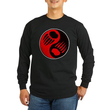 Bear Claw Yin Yang Long Sleeve Dark T-Shirt