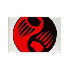 Bear Claw Yin Yang Rectangle Magnet