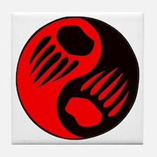 Bear Claw Yin Yang Tile Coaster