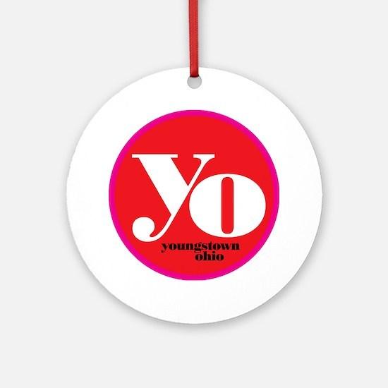 Red Yo! Round Ornament