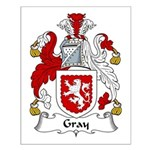 Gray Family Crest Small Poster