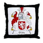 Gray Family Crest Throw Pillow