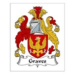 Graves Family Crest Small Poster