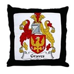 Graves Family Crest Throw Pillow