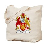 Graves Family Crest Tote Bag
