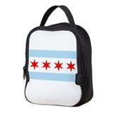 Chicago flag Lunch Bags