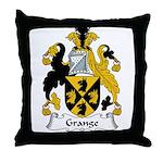 Grange Family Crest Throw Pillow