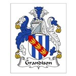 Grandison Family Crest Small Poster