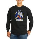 Grandison Family Crest Long Sleeve Dark T-Shirt